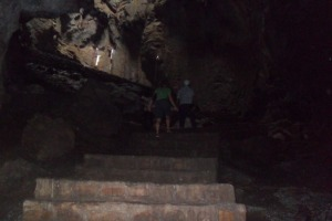 stairs to go inside the lower cave