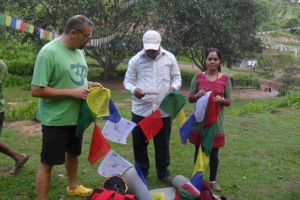 offering prayer flags