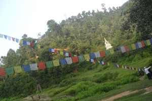 colorful prayer flags that we offered