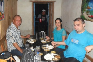 having dinner at Dewan Rai's guest house, you should not miss this guest house when you go to Halesi