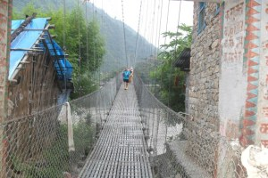 another suspension bridge to reach Jaya Ram Ghat
